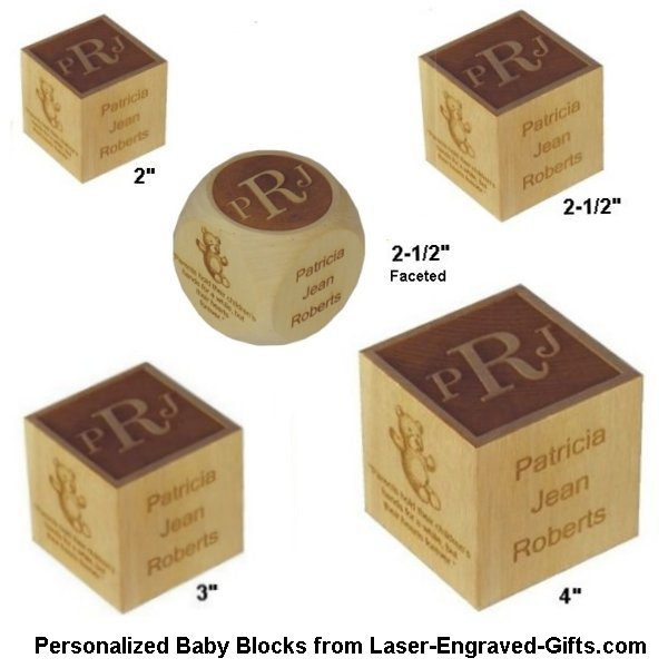Laser engraved gifts adds new larger personalized baby blocks laser engraved gifts adds new larger personalized baby blocks lightning releaseslightning releases negle Image collections